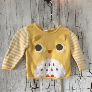 Gymboree Cute Chickadee Pale Yellow Sweater